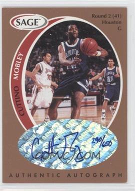 1998 SAGE - Authentic Autograph - Bronze #A33 - Cuttino Mobley /650