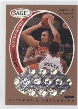 1998 SAGE - Authentic Autograph - Bronze #A37 - Michael Olowokandi /650