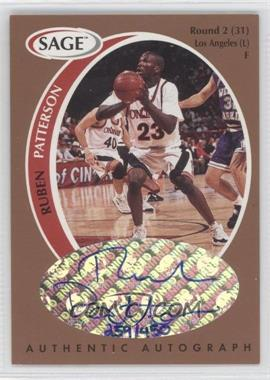 1998 SAGE - Authentic Autograph - Bronze #A39 - Ruben Patterson /450