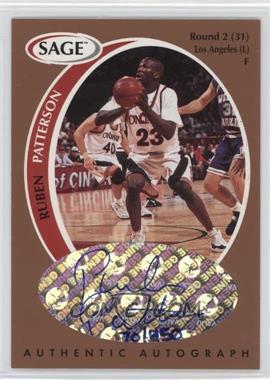 1998 SAGE - Authentic Autograph - Bronze #A39 - Ruben Patterson /450