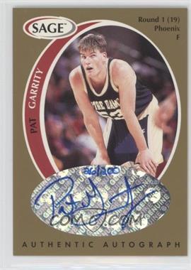 1998 SAGE - Authentic Autograph - Gold #A15 - Pat Garrity /200