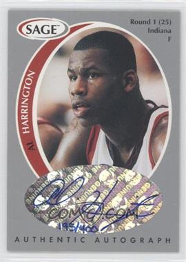1998 SAGE - Authentic Autograph - Silver #A18 - Al Harrington /400
