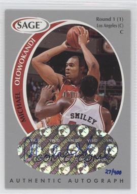 1998 SAGE - Authentic Autograph - Silver #A37 - Michael Olowokandi /400