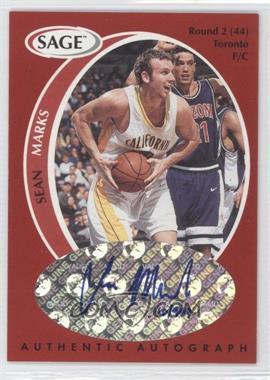1998 SAGE - Authentic Autograph #A28 - Sean Marks /999