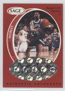 1998 SAGE - Authentic Autograph #A33 - Cuttino Mobley /999