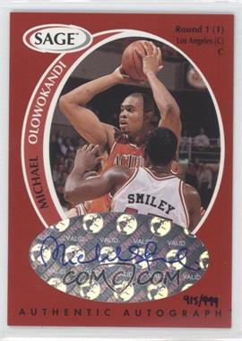 1998 SAGE - Authentic Autograph #A37 - Michael Olowokandi /999
