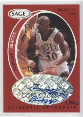 1998 SAGE - Authentic Autograph #A4 - Torraye Braggs /890