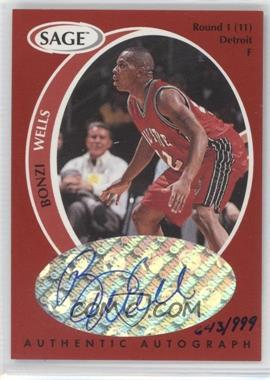 1998 SAGE - Authentic Autograph #A45 - Bonzi Wells /999
