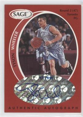 1998 SAGE - Authentic Autograph #A46 - Tyson Wheeler /999