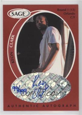 1998 SAGE - Authentic Autograph #A9 - Keon Clark /999