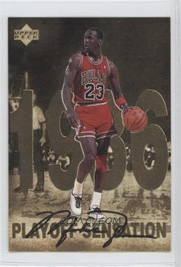 1998 Upper Deck Gatorade Michael Jordan - [Base] #2 - Playoff Sensation (1986)