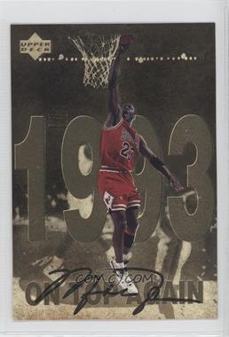 1998 Upper Deck Gatorade Michael Jordan - [Base] #9 - On Top a Gain (1993)