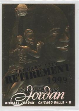 1999-00 23KT Gold Card Fleer Reprints - 1996-97 Flair Showcase #MIJO.2 - Michael Jordan (Retirement Overstrike) /9923