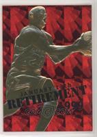 Michael Jordan (Red Foil Background, Retirement Overstrike) #/9,923