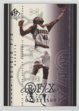 1999-00 SP Authentic - [Base] #106 - James Posey /1500