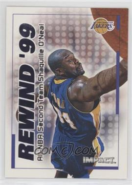 1999-00 Skybox Impact - Rewind '99 #22 RN - Shaquille O'Neal
