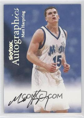 1999-00 Skybox Premium - Autographics #MAHA - Matt Harpring