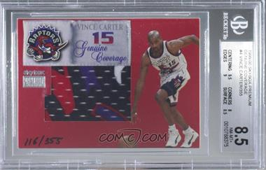 1999-00 Skybox Premium - Genuine Coverage Jerseys #4GC - Vince Carter /355 [BGS8.5NM‑MT+]