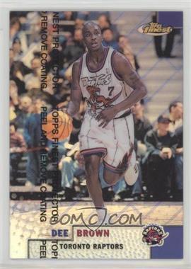 1999-00 Topps Finest - [Base] - Refractor #89 - Dee Brown