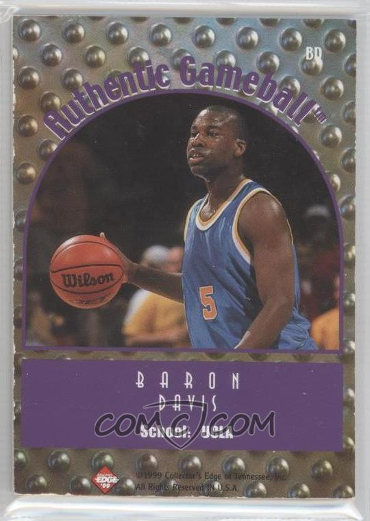 1999 Collector's Edge Rookie Rage - Authentic Gameball #BD - Baron Davis