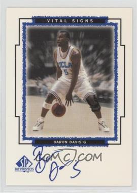 1999 SP Top Prospects - Vital Signs - [Autographed] #BD - Baron Davis