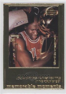 1999 Upper Deck Authenticated - Michael Jordan 22 kt. Gold Photo Cards #MIJO - Michael Jordan /9923