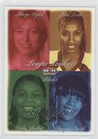 Margo Dydek, Lisa Leslie, Tangela Smith, Vicky Bullett