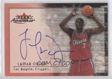 2000-01 Fleer Tradition - Autographics - [Autographed] #LAOD - Lamar Odom