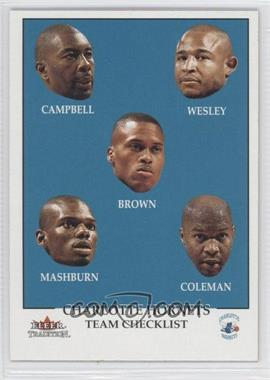 2000-01 Fleer Tradition - [Base] #294 - Team Checklist - Charlotte Hornets