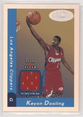 2000-01 NBA Hoops Hot Prospects - [Base] #134 - Future Swatch - Keyon Dooling /1000