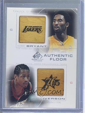 2000-01 SP Game Floor Edition - Authentic Floor Combos #C13 - Kobe Bryant, Allen Iverson