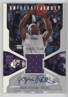 2000-01 SPx - [Base] #119 - Morris Peterson /2500