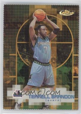 2000-01 Topps Finest - [Base] - Gold Refractor #47 - Terrell Brandon /100