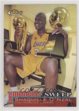 2000-01 Topps Finest - Finest Moments - Refractor #FM-SO - Shaquille O'Neal - Courtesy of COMC.com