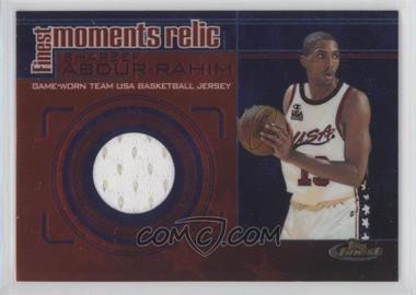 2000-01 Topps Finest - Finest Moments Relics #FMR10 - Shareef Abdur-Rahim