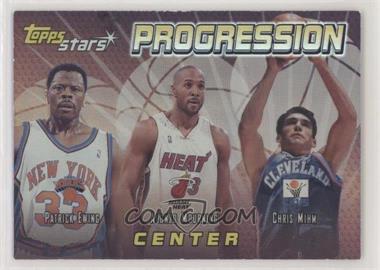 2000-01 Topps Stars - Progression #P1 - Patrick Ewing, Alonzo Mourning, Chris Mihm