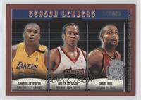 Shaquille O'Neal, Allen Iverson, Grant Hill