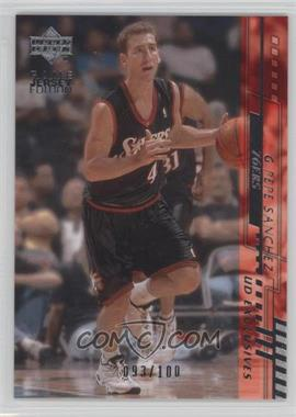 2000-01 Upper Deck - [Base] - Silver UD Exclusives #343 - Pepe Sanchez /100
