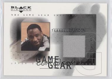 2000-01 Upper Deck Black Diamond - Game Gear #TB - Terrell Brandon