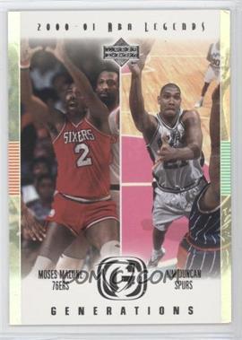 2000-01 Upper Deck NBA Legends - Generations #G5 - Tim Duncan, Moses Malone