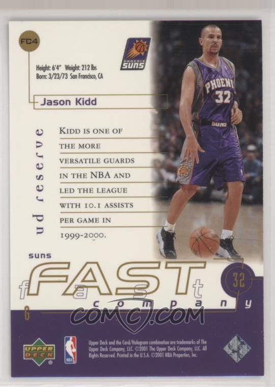 2000-01 Upper Deck Reserve - Fast Company #FC4 - Jason Kidd