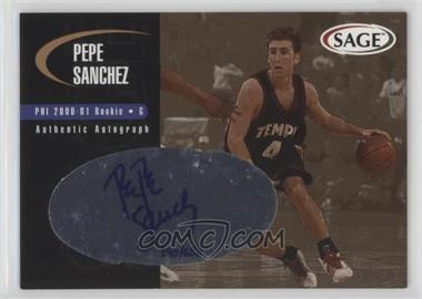2000 Sage - Authentic Autograph - Bronze #A43 - Pepe Sanchez /650