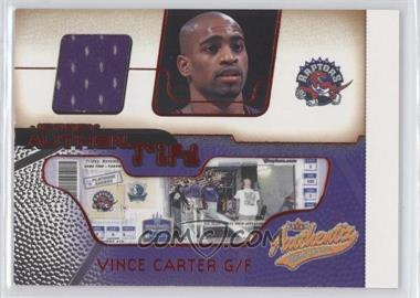 2001-02 Fleer Authentix - Jersey Authentix - Ripped #JA-VC - Vince Carter