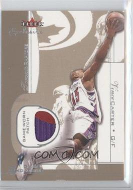 2001-02 Fleer Exclusive - Game Exclusives - Patches #VICA - Vince Carter /25