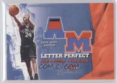 2001-02 Fleer Exclusive - Letter Perfect - Varsity [Memorabilia] #AM-JV - Andre Miller /25