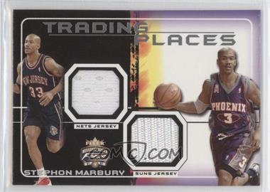 2001-02 Fleer Focus Jersey Edition - Trading Places Jerseys #TP-SM - Stephon Marbury