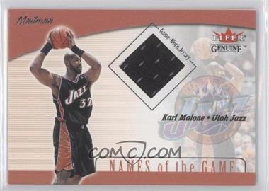 2001-02 Fleer Genuine - Names of the Game Jerseys #KAMA - Karl Malone