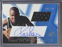 Signed Rookie Jersey - Tony Parker (Blue) /800