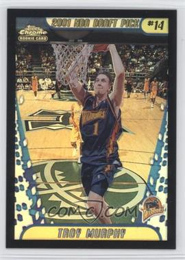 2001-02 Topps Chrome - [Base] - Black Border Refractor #142 - Troy Murphy /50