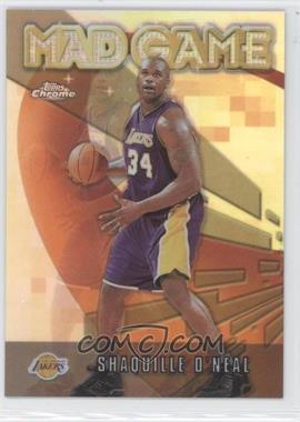 2001-02 Topps Chrome - Mad Game - Refractor #MG2 - Shaquille O'Neal
